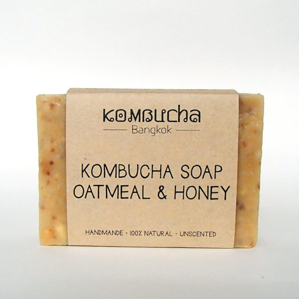 front kombucha soap oatmeal and honey