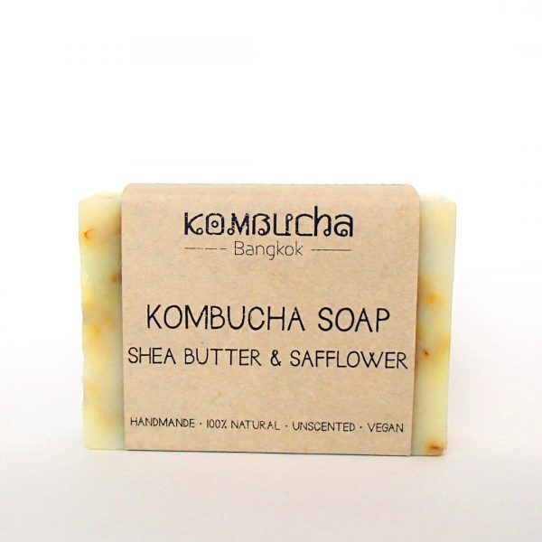 front kombucha soap shea butter and safflower